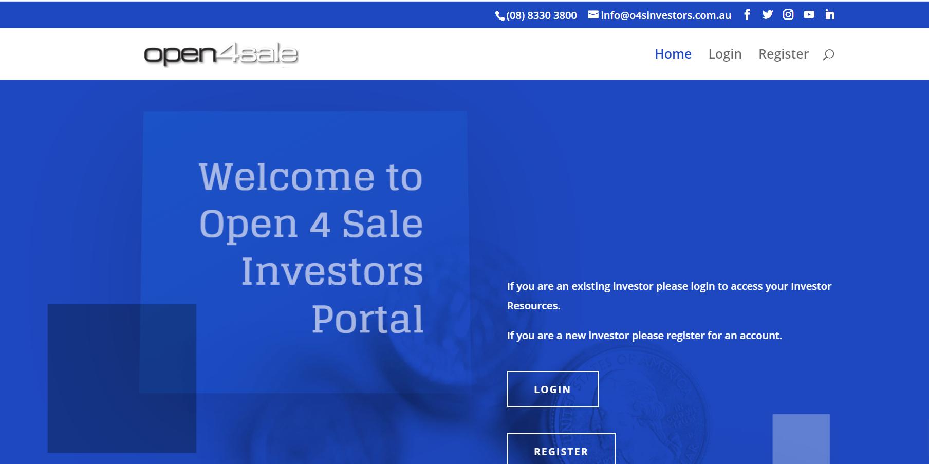 O4S Investors Portal